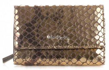 Dámská kožená peněženka Pierre Cardin staré zlato