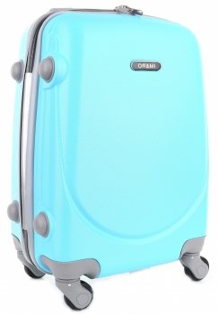 Palubní kufřík Ultra Light Or&Mi 4 kolečka tyrkys