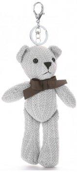 Přívěšek ke kabelce Plyšový medvídek světle šedý
