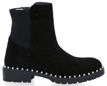 Černé módní kotníkové boty Crystal