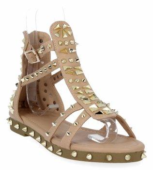 Růžové módní dámské sandály Givana