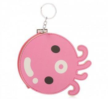 Přívěšek na klíče ke kabelce Chobotnice růžový