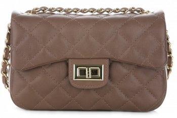 kožená kabelka listonoška Genuine Leather Zemitá
