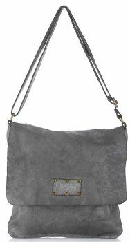 Kožená kabelka listonoška Vintage Genuine Leather Šedá