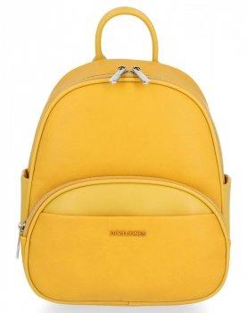 Uniwersalny Plecaczek Damski na co dzień firmy David Jones Żółty