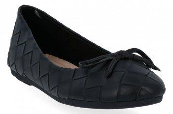 Czarne modne balerinki damskie firmy Sergio Todzi