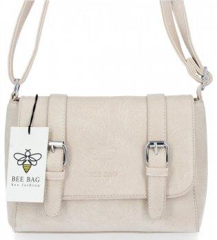 BEE BAG Torebka Damska Listonoszka Vintage Bag Beżowa