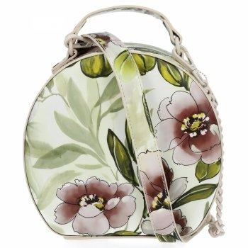 Modna Torebka Damska Listonoszka w kwiaty firmy Diana&Co Beżowa