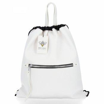 BEE BAG Torebka Damska Worek typu Shopper Bag Beatrice Biała