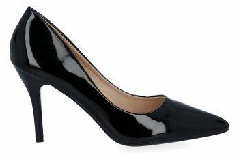 Czarne lakierowane szpilki damskie firmy Bellicy