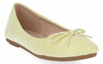 Żółte modne balerinki damskie firmy Sergio Todzi