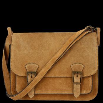 Torebki Listonoszki Skórzane Genuine Leather Ruda