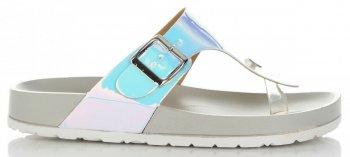 Modne Klapki Damskie z możliwością zwężenia marki Ideal Shoes Szare