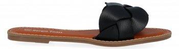 Czarne plecione klapki damskie firmy Sergio Todzi