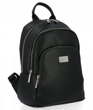 Dwukomorowe Uniwersalne Plecaczki Damskie 100% Vegan firmy David Jones Czarny