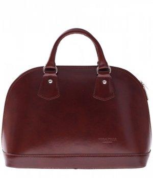 Torebka skórzana kufer Vera Pelle Brązowy