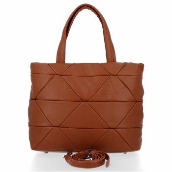 Modna Torebka Damska Herisson Shopper Bag Ruda