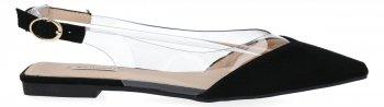 Czarne eleganckie sandały damskie w szpic firmy Bellucci
