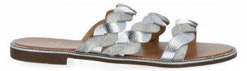 Srebrne stylowe klapki damskie firmy Bellicy