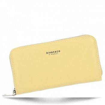 Diana&Co Firmowy Uniwersalny Portfel Damski XL Żółty