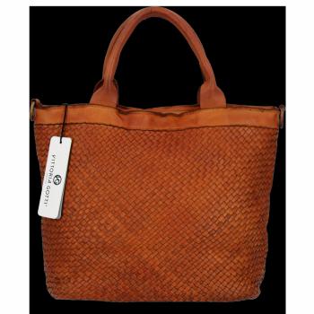 Vittoria Gotti Vintage Firmowy Shopper Premium Ruda