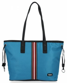 Modna Torebka Damska Shopper Bag firmy David Jones Turkusowa