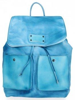 Stylowe Plecaczki Damskie na co dzień firmy Diana&Co Błękitny