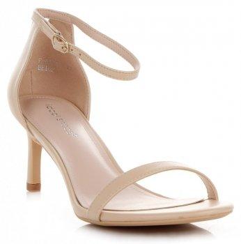 Eleganckie Sandały Damskie na Szpilce firmy Ideal Shoes Beżowe