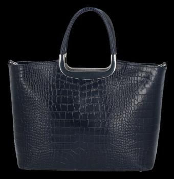 Elegancki Kuferek Skórzany w motyw aligatora Vittoria Gotti Made in Italy Granat