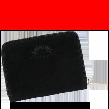 Vittoria Gotti Poręczny Firmowy Skórzany Portfel Damski Made in Italy Czarny