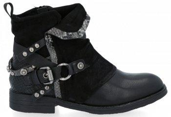 Czarne stylowe botki damskie Lucia