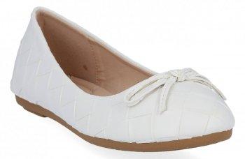 Białe modne balerinki damskie firmy Sergio Todzi