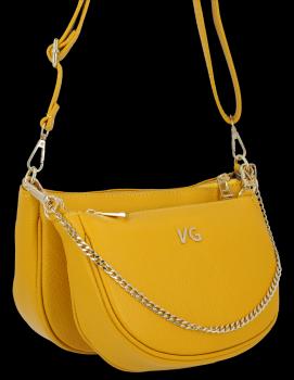 Modne Torebki Skórzane Listonoszki 2w1 firmy Vittoria Gotti Made in Italy Żółta