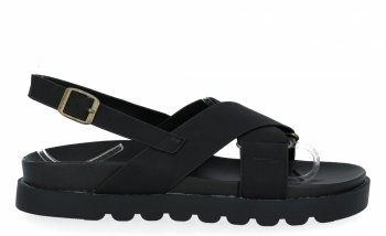 Czarne uniwersalne sandały damskie firmy Givana