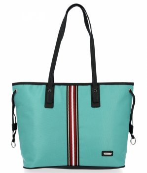 Modna Torebka Damska Shopper Bag firmy David Jones Mięta
