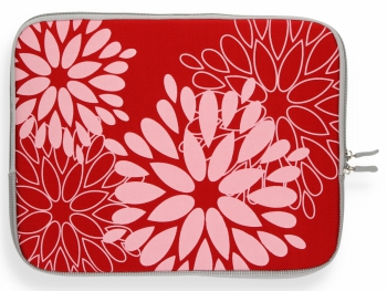 Modne Etui na Tablet 12 wzór w kwiaty Czerwone