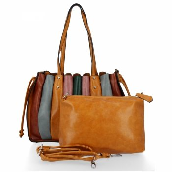 Modna Torebka Damska Shopper Bag z listonoszką firmy David Jones Musztarda