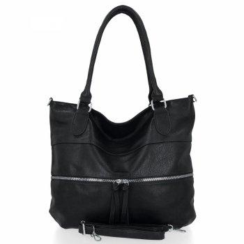 Uniwersalna Torebka Damska Herisson Shopper Bag Czarna
