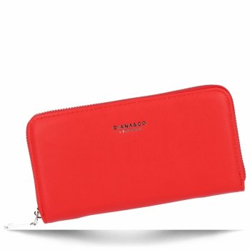 Diana&Co Firmowy Uniwersalny Portfel Damski XL Czerwony