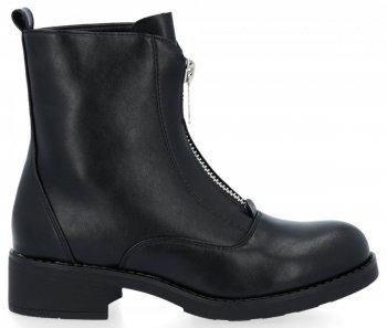 Czarne uniwersalne modne botki damskie Noah