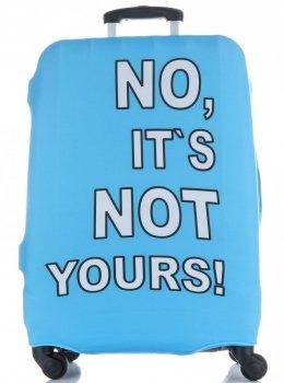 Pokrowiec na Walizkę firmy Snowball w rozmiarze M No its not yours Błękit