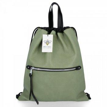 BEE BAG Torebka Damska Worek typu Shopper Bag Beatrice Jasno Zielona