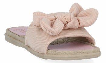 Różowe modne klapki damskie z kokardą firmy Givana