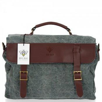 BEE BAG Uniwersalna Listonoszka Damska Vintage Style Zielona