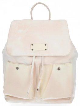 Stylowe Plecaczki Damskie na co dzień firmy Diana&Co Beżowy