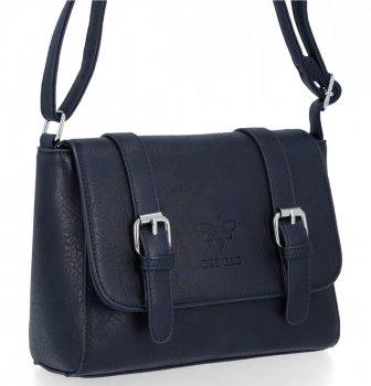 BEE BAG Torebka Damska Listonoszka Vintage Bag Granat