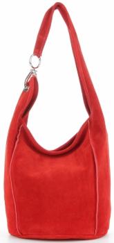 Vittoria Gotti Made in Italy Firmowa Torebka Skórzana do noszenia na co dzień Czerwona