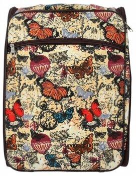 Modna Walizka Kabinówka Butterfly firmy Or&Mi Beżowa
