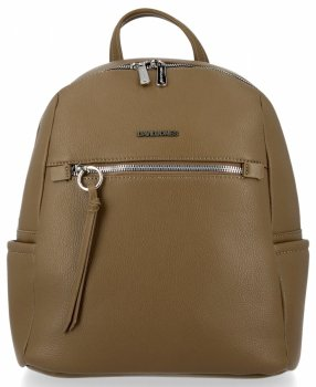 Uniwersalny Solidny Plecak Damski na co dzień firmy David Jones Khaki