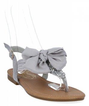 Šedé módne dámske sandále od firmy Bellica